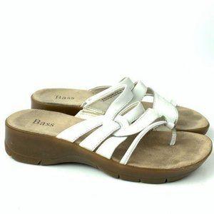 Bass sandals 5.5 Doreen leather toe ring platform